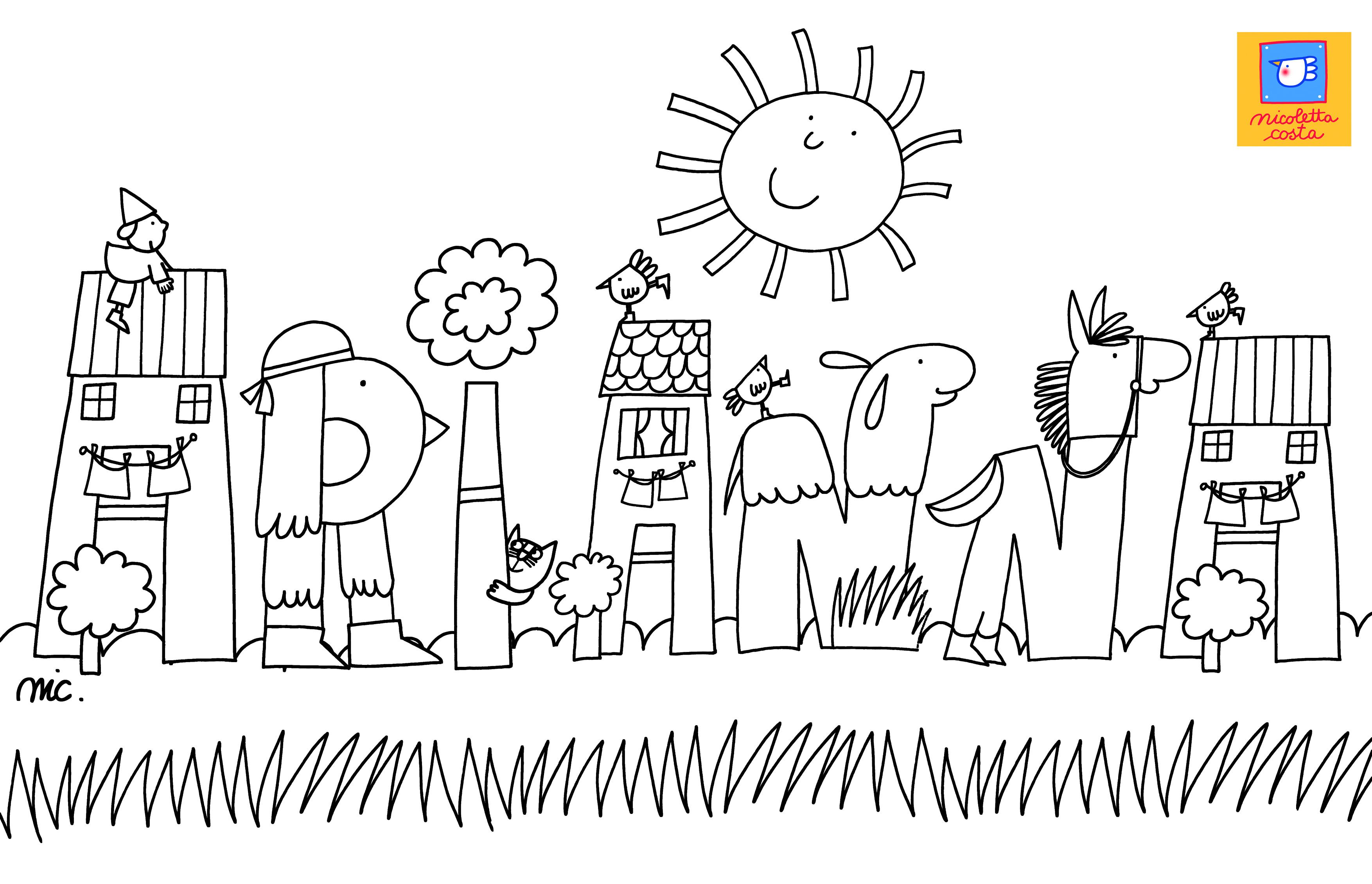 Lettere Alfabeto Da Copiare nomi da colorare – il blog ufficiale di nicoletta costa